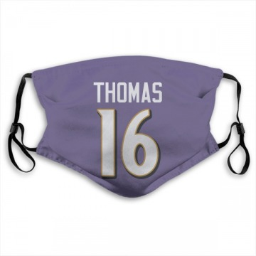 Baltimore Ravens De'Anthony Thomas Purple Jersey Name & Number Face Mask