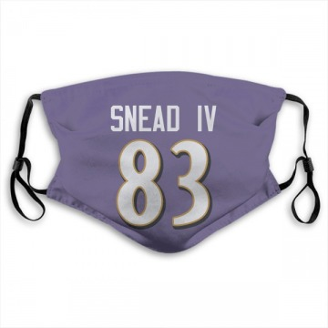 Baltimore Ravens Willie Snead IV Purple Jersey Name & Number Face Mask