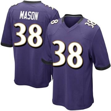 Men's Nike Baltimore Ravens Ben Mason Purple Team Color Jersey - Game