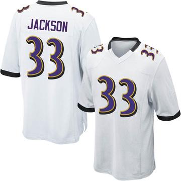 size 40 dbfac 55226 Bennett Jackson White Jersey - Ravens Store