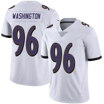 Men's Nike Baltimore Ravens Broderick Washington Jr. White Vapor Untouchable Jersey - Limited