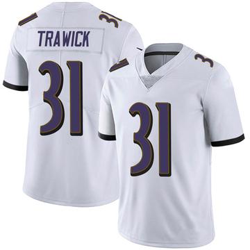 Men's Nike Baltimore Ravens Brynden Trawick White Vapor Untouchable Jersey - Limited