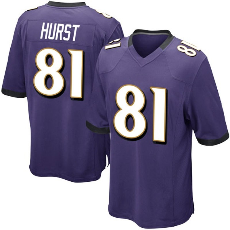 get cheap 328b9 d71b9 Men's Nike Baltimore Ravens Hayden Hurst Purple Team Color Jersey - Game