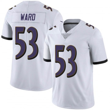 Men's Nike Baltimore Ravens Jihad Ward White Vapor Untouchable Jersey - Limited