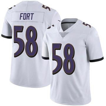 Men's Nike Baltimore Ravens L.J. Fort White Vapor Untouchable Jersey - Limited