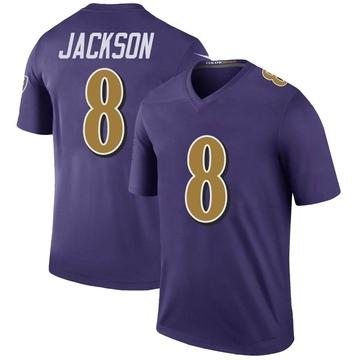 Men's Baltimore Ravens Lamar Jackson Purple Color Rush Jersey - Legend