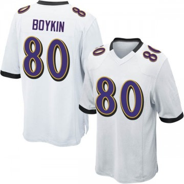 Men's Nike Baltimore Ravens Miles Boykin White Jersey - Game