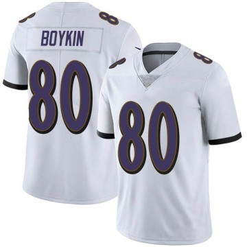 Men's Nike Baltimore Ravens Miles Boykin White Vapor Untouchable Jersey - Limited