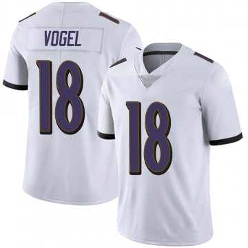 Men's Nike Baltimore Ravens Nick Vogel White Vapor Untouchable Jersey - Limited