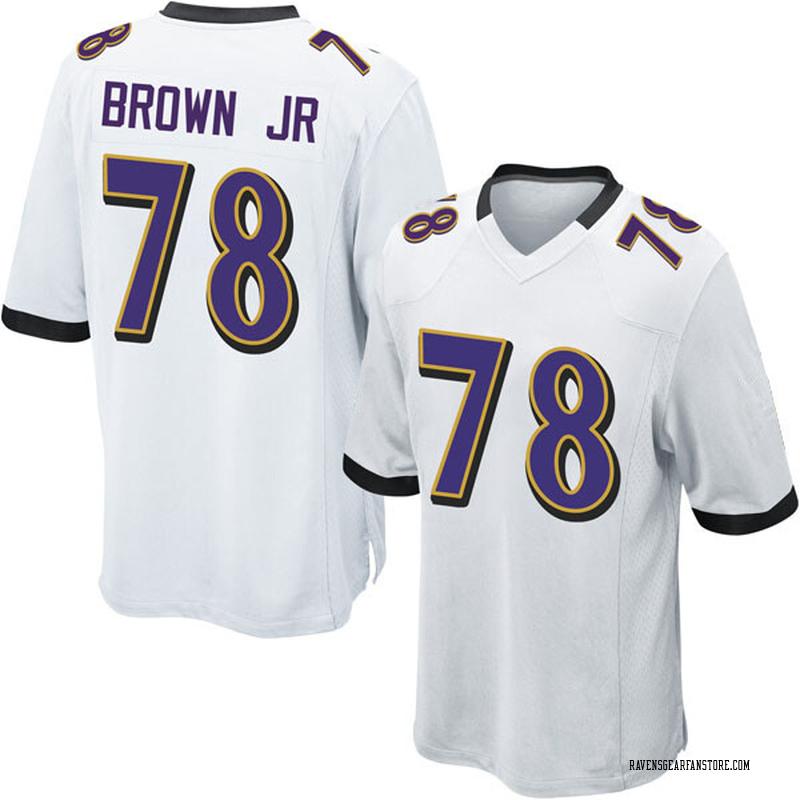 best service 118d9 91688 Men's Nike Baltimore Ravens Orlando Brown Jr. White Jersey - Game