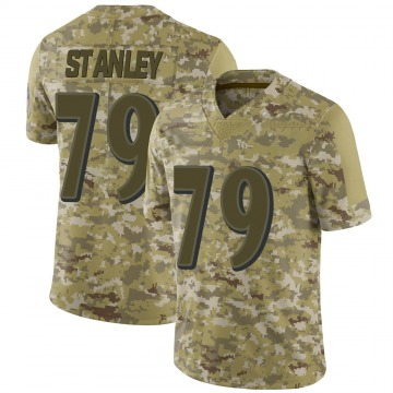 Men's Nike Baltimore Ravens Ronnie Stanley Camo 2018 Salute to Service Jersey - Limited