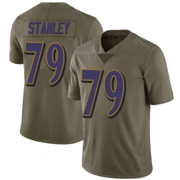 Men's Nike Baltimore Ravens Ronnie Stanley Green 2017 Salute to Service Jersey - Limited