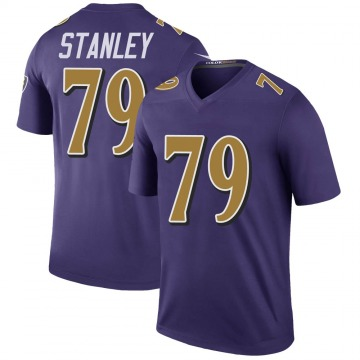 Men's Baltimore Ravens Ronnie Stanley Purple Color Rush Jersey - Legend