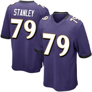 Men's Nike Baltimore Ravens Ronnie Stanley Purple Team Color Jersey - Game