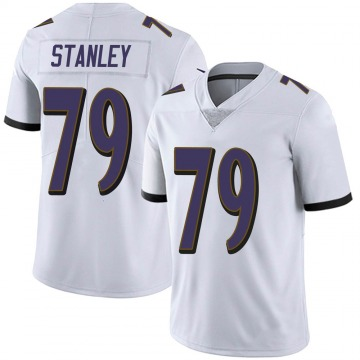 Men's Nike Baltimore Ravens Ronnie Stanley White Vapor Untouchable Jersey - Limited