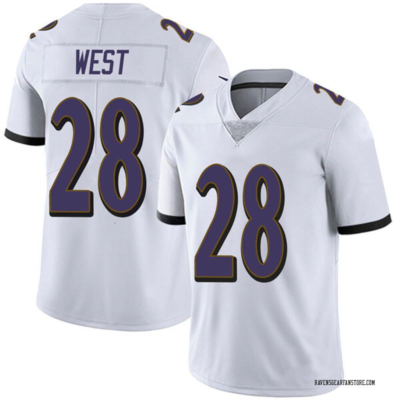the best attitude f30dc ae39f Men's Nike Baltimore Ravens Terrance West White Vapor Untouchable Jersey -  Limited