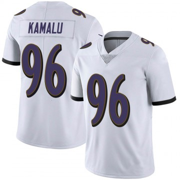 Men's Nike Baltimore Ravens Ufomba Kamalu White Vapor Untouchable Jersey - Limited