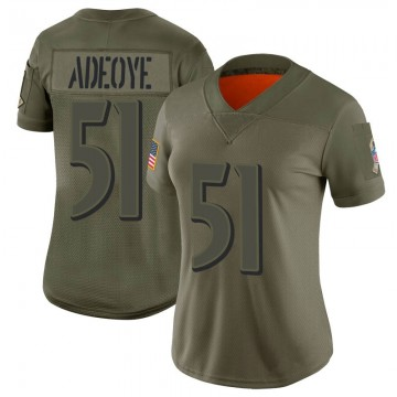 Women's Nike Baltimore Ravens Aaron Adeoye Camo 2019 Salute to Service Jersey - Limited