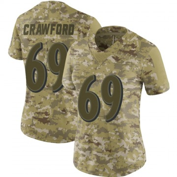 Women's Nike Baltimore Ravens Aaron Crawford Camo 2018 Salute to Service Jersey - Limited