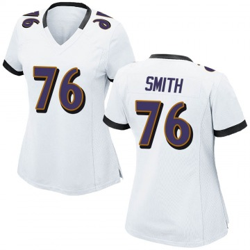 Women's Nike Baltimore Ravens Andre Smith White Jersey - Game