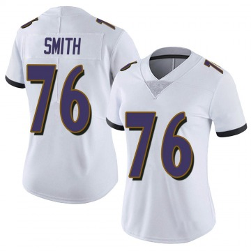 Women's Nike Baltimore Ravens Andre Smith White Vapor Untouchable Jersey - Limited