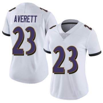 Women's Nike Baltimore Ravens Anthony Averett White Vapor Untouchable Jersey - Limited