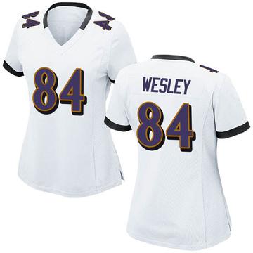 Women's Nike Baltimore Ravens Antoine Wesley White Jersey - Game