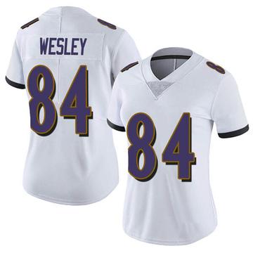 Women's Nike Baltimore Ravens Antoine Wesley White Vapor Untouchable Jersey - Limited