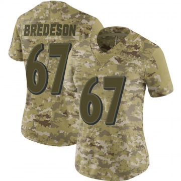 Women's Nike Baltimore Ravens Ben Bredeson Camo 2018 Salute to Service Jersey - Limited