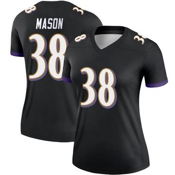 Women's Nike Baltimore Ravens Ben Mason Black Jersey - Legend