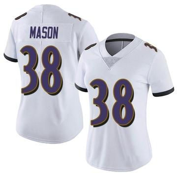 Women's Nike Baltimore Ravens Ben Mason White Vapor Untouchable Jersey - Limited