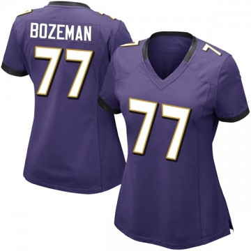 Women's Nike Baltimore Ravens Bradley Bozeman Purple Team Color Vapor Untouchable Jersey - Limited