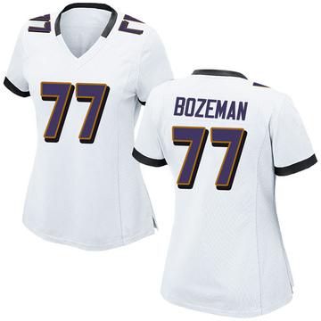 Women's Nike Baltimore Ravens Bradley Bozeman White Jersey - Game
