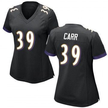 Women's Nike Baltimore Ravens Brandon Carr Black Jersey - Game