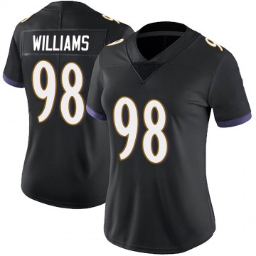 Women's Nike Baltimore Ravens Brandon Williams Black Alternate Vapor Untouchable Jersey - Limited