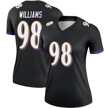 Women's Nike Baltimore Ravens Brandon Williams Black Jersey - Legend