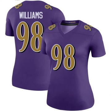 Women's Nike Baltimore Ravens Brandon Williams Purple Color Rush Jersey - Legend