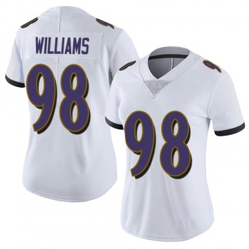 Women's Nike Baltimore Ravens Brandon Williams White Vapor Untouchable Jersey - Limited