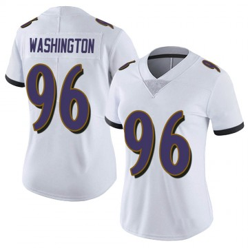 Women's Nike Baltimore Ravens Broderick Washington Jr. White Vapor Untouchable Jersey - Limited