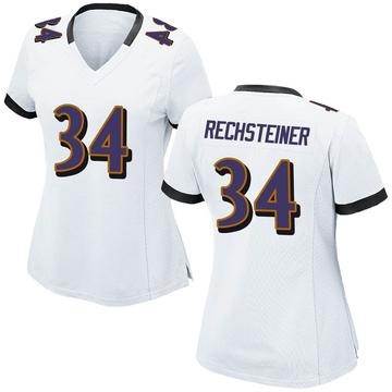 Women's Nike Baltimore Ravens Bronson Rechsteiner White Jersey - Game