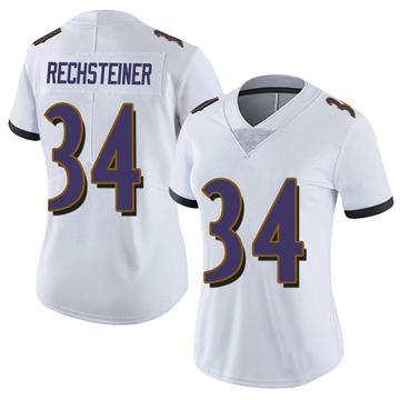 Women's Nike Baltimore Ravens Bronson Rechsteiner White Vapor Untouchable Jersey - Limited