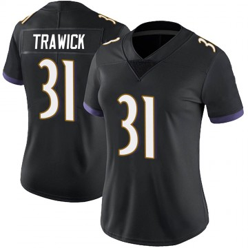 Women's Nike Baltimore Ravens Brynden Trawick Black Alternate Vapor Untouchable Jersey - Limited