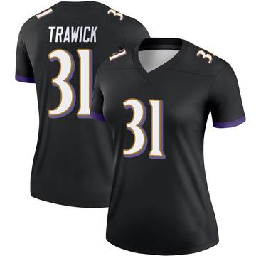 Women's Nike Baltimore Ravens Brynden Trawick Black Jersey - Legend