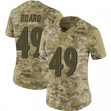 Women's Nike Baltimore Ravens Chris Board Camo 2018 Salute to Service Jersey - Limited
