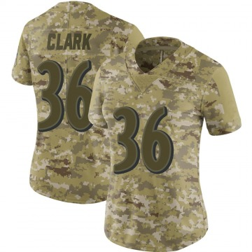 Women's Nike Baltimore Ravens Chuck Clark Camo 2018 Salute to Service Jersey - Limited