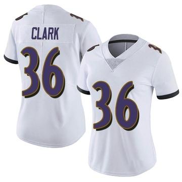 Women's Nike Baltimore Ravens Chuck Clark White Vapor Untouchable Jersey - Limited