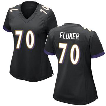 Women's Nike Baltimore Ravens D.J. Fluker Black Jersey - Game