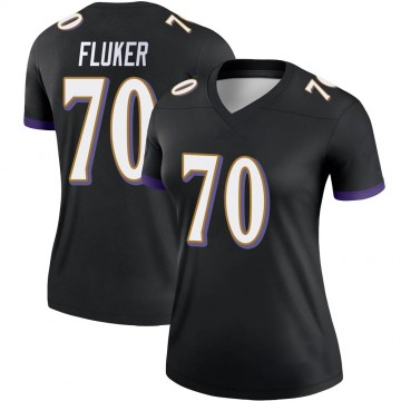 Women's Nike Baltimore Ravens D.J. Fluker Black Jersey - Legend