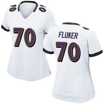 Women's Nike Baltimore Ravens D.J. Fluker White Jersey - Game