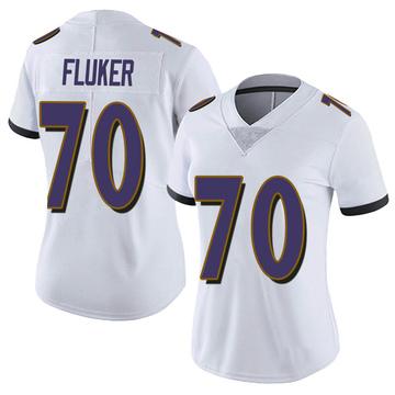 Women's Nike Baltimore Ravens D.J. Fluker White Vapor Untouchable Jersey - Limited